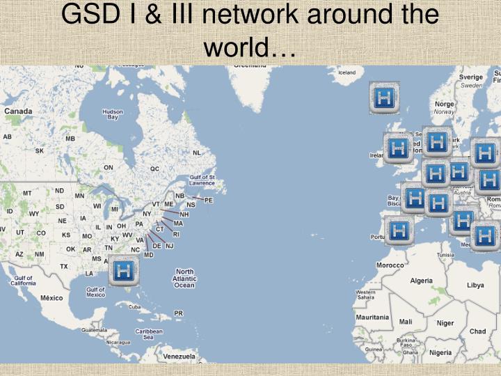 Gsd i iii network around the world