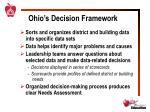ohio s decision framework