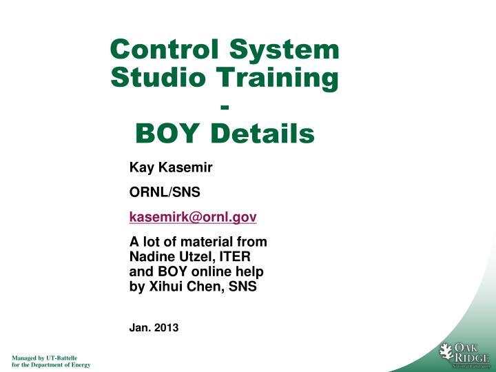 control system studio training boy details n.