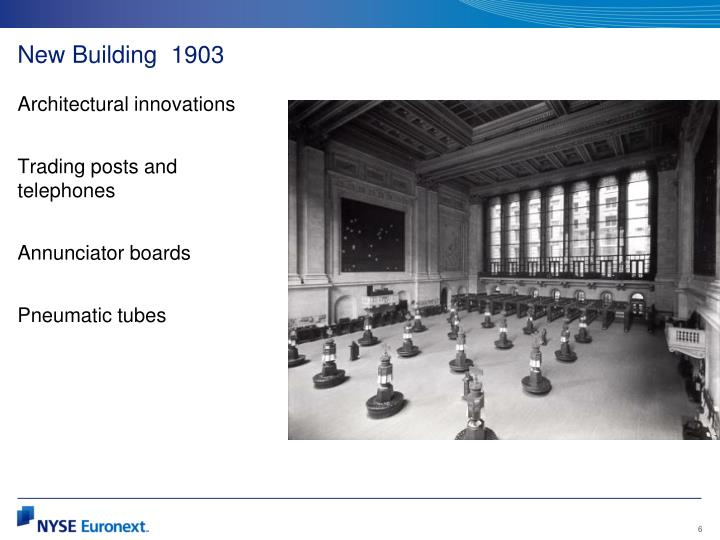 New Building  1903