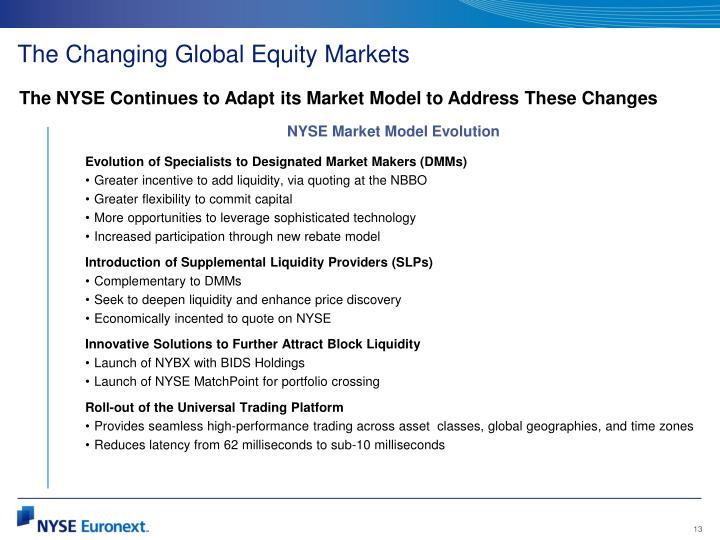 NYSE Market Model Evolution