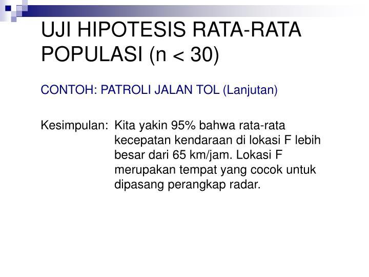 Ppt Pengujian Hipotesis Rata Rata Proporsi Satu Populasi