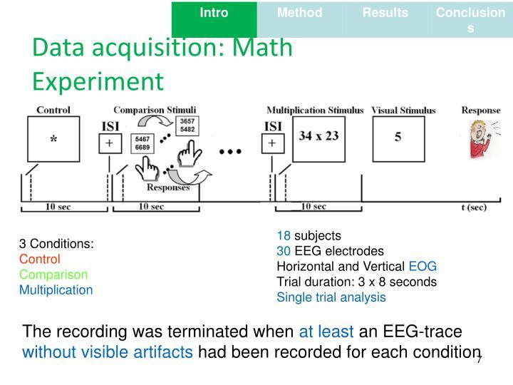 Data acquisition: Math Experiment