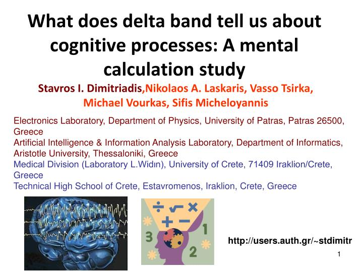 What does delta band tell us about cognitive processes a mental calculation study