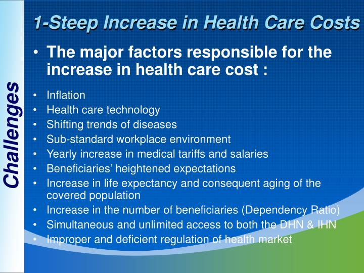 1-Steep Increase in Health Care Costs