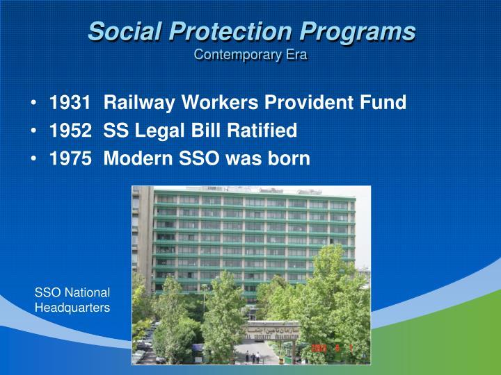 Social Protection Programs