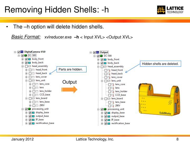 Removing Hidden Shells: -h