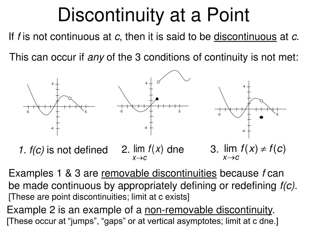 PPT - CONTINUITY AND ONE-SIDED LIMITS PowerPoint