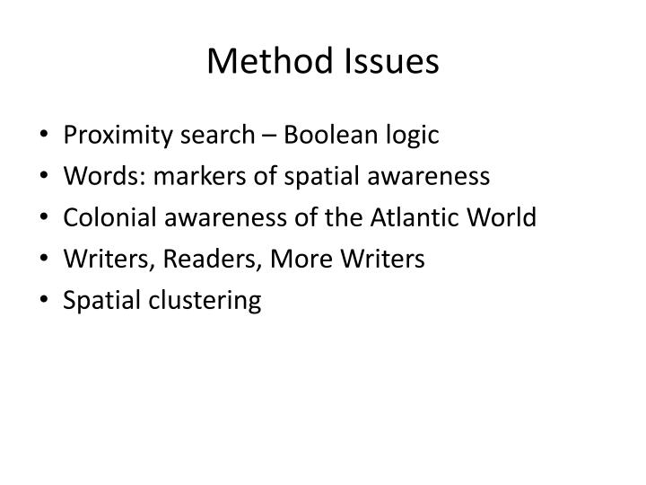 Method Issues