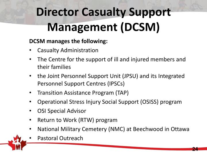 Director Casualty Support Management (DCSM)