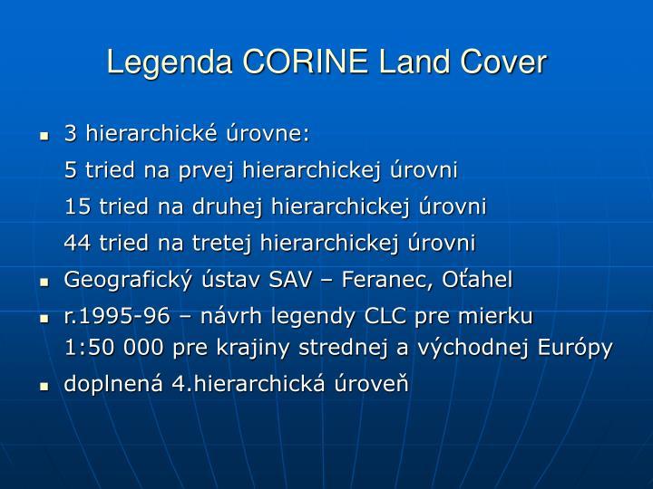 Legenda CORINE Land Cover