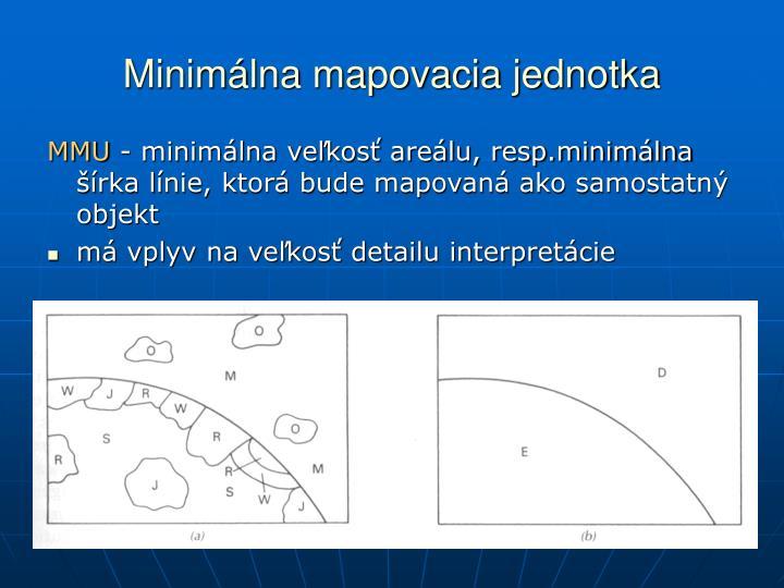 Minimálna mapovacia jednotka