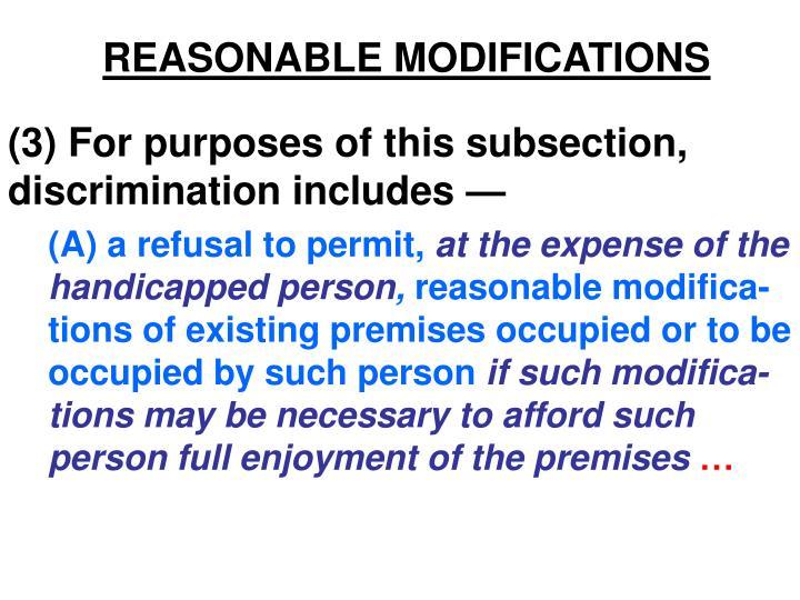 reasonable modifications n.