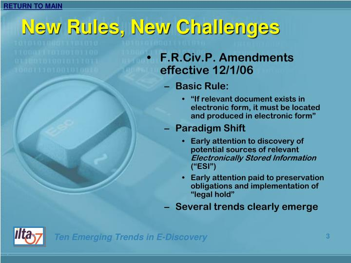 New rules new challenges