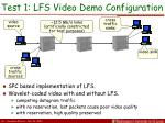 test 1 lfs video demo configuration