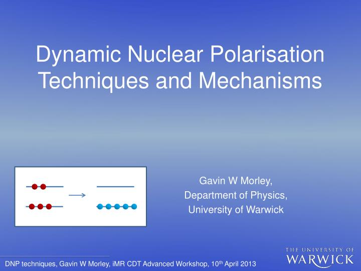dynamic nuclear polarisation techniques and mechanisms n.