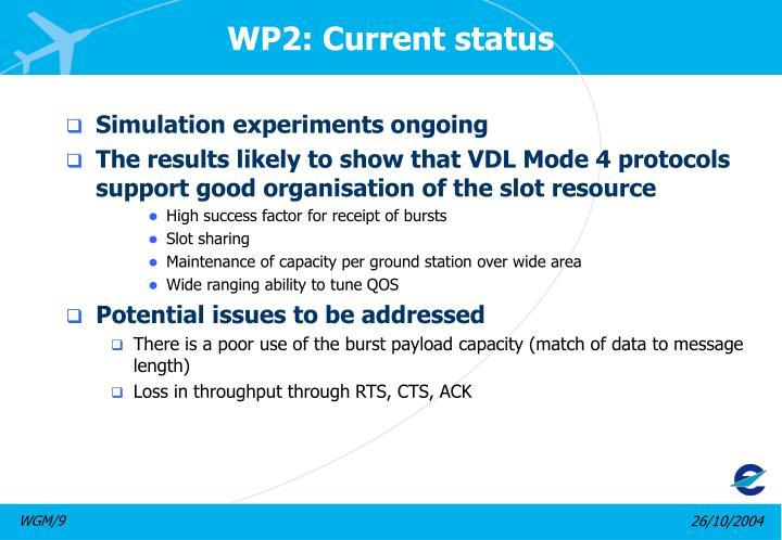 WP2: Current status