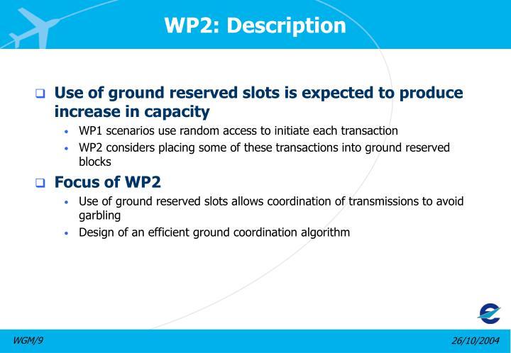 WP2: Description