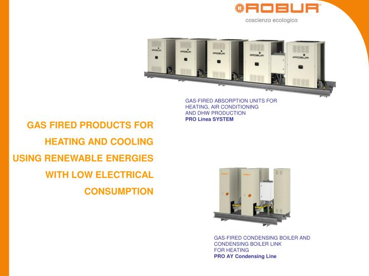 GAS-FIRED ABSORPTION UNITS FOR HEATING, AIR CONDITIONING