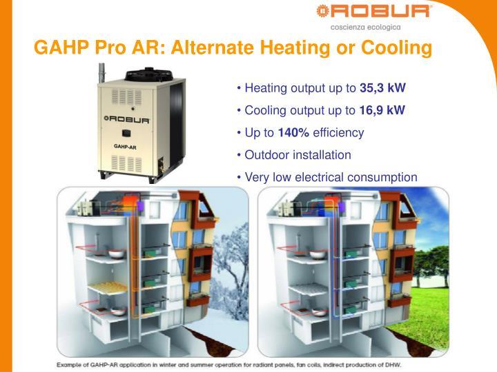 GAHP Pro AR: Alternate Heating or Cooling