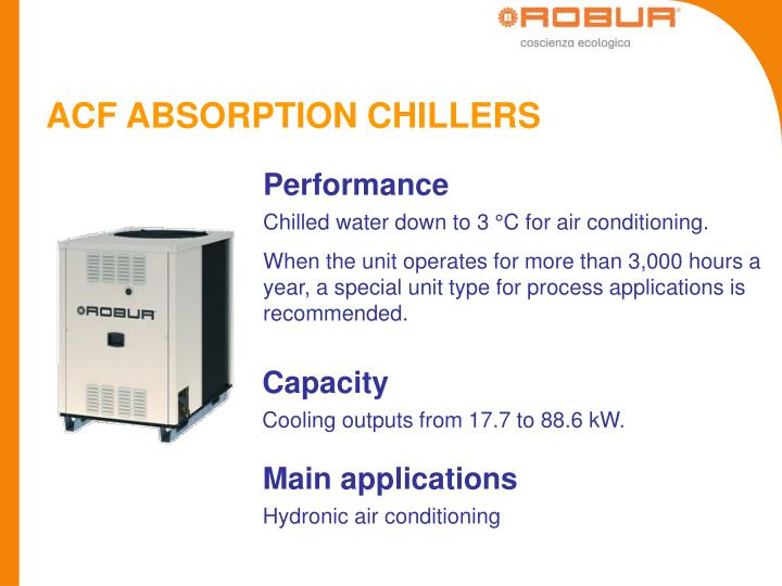 ACF ABSORPTION CHILLERS