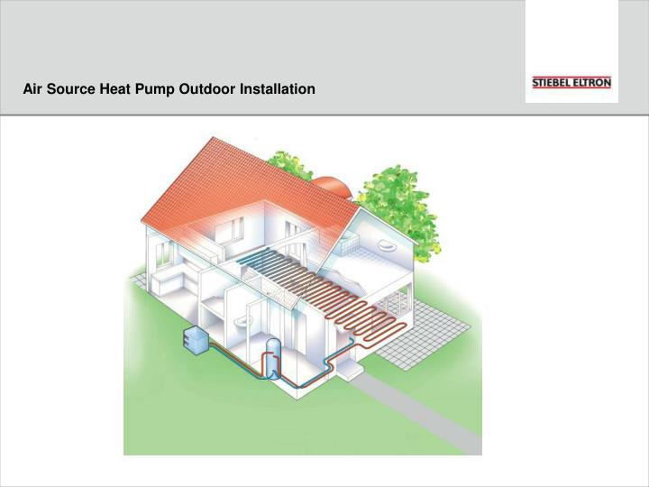 Air Source Heat Pump Outdoor Installation