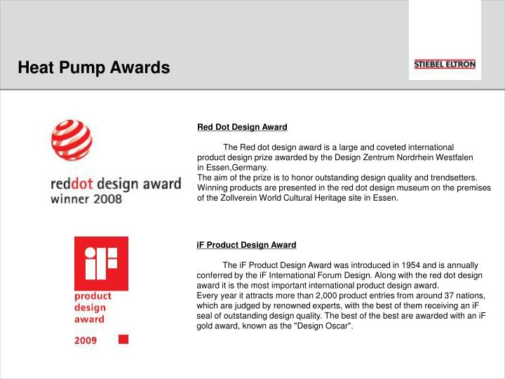 Heat Pump Awards