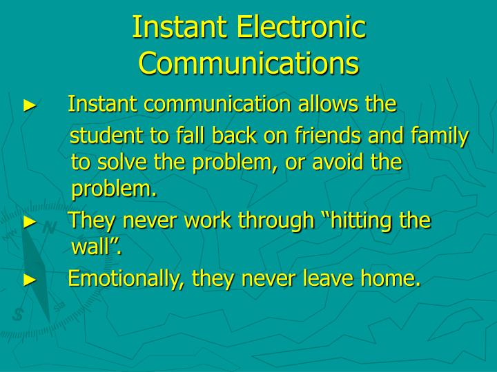 Instant Electronic Communications