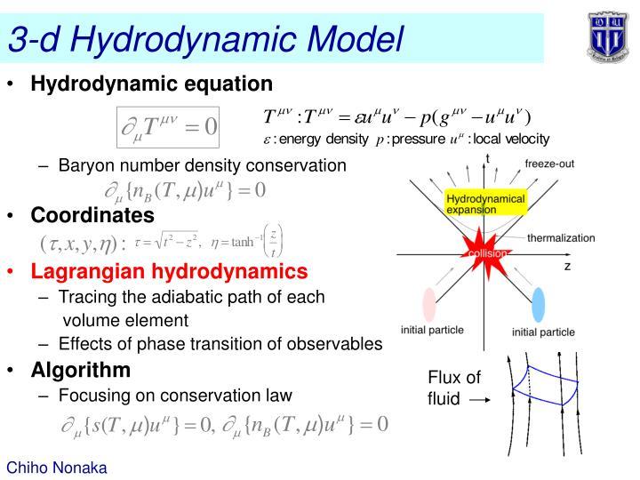 3-d Hydrodynamic Model