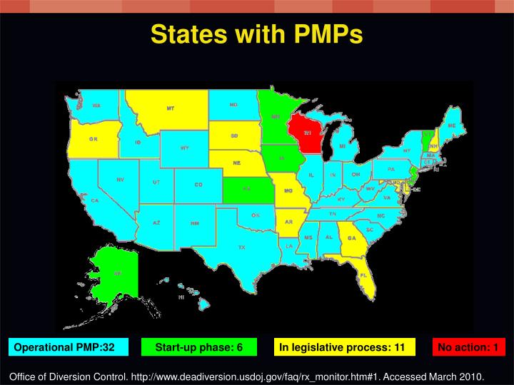 States with PMPs