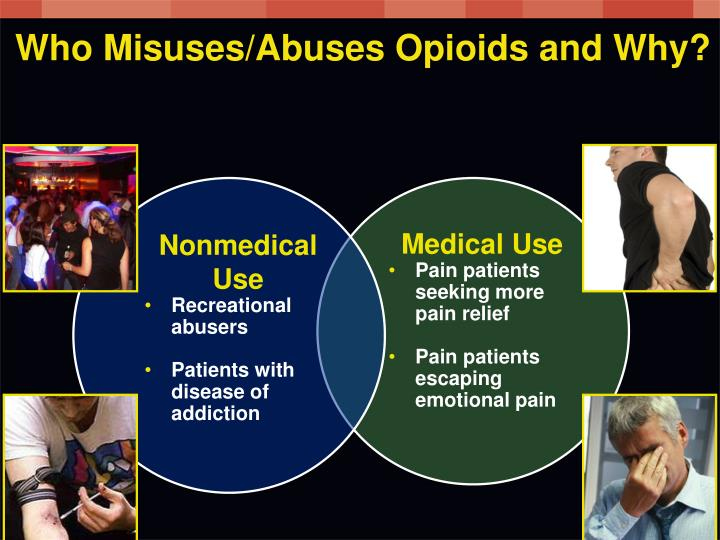 Who Misuses/Abuses Opioids and Why?