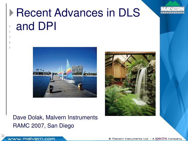 recent advances in dls and dpi