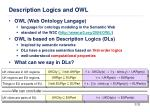 description logics and owl