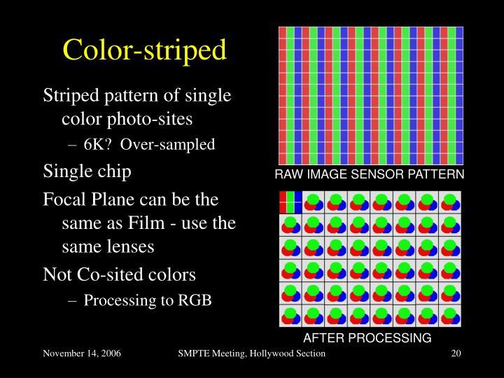 Color-striped