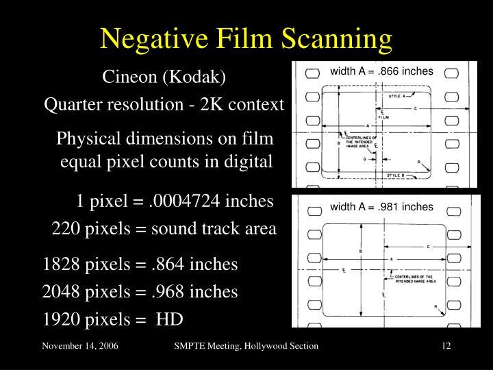 Negative Film Scanning