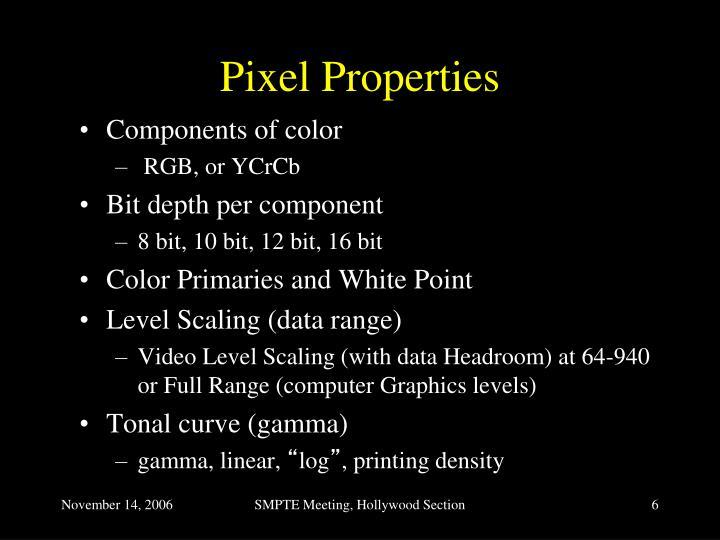 Pixel Properties