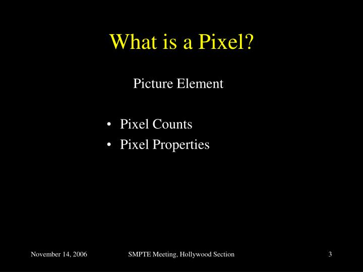 What is a pixel