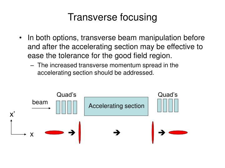 Transverse focusing