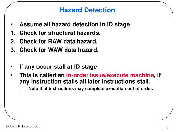 Hazard Detection