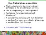 crop trait ontology propositions
