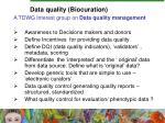 data quality biocuration