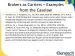 brokers as carriers examples from the caselaw