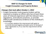 map 21 changes for both freight forwarders and property brokers1