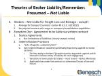 theories of broker liability remember presumed not liable