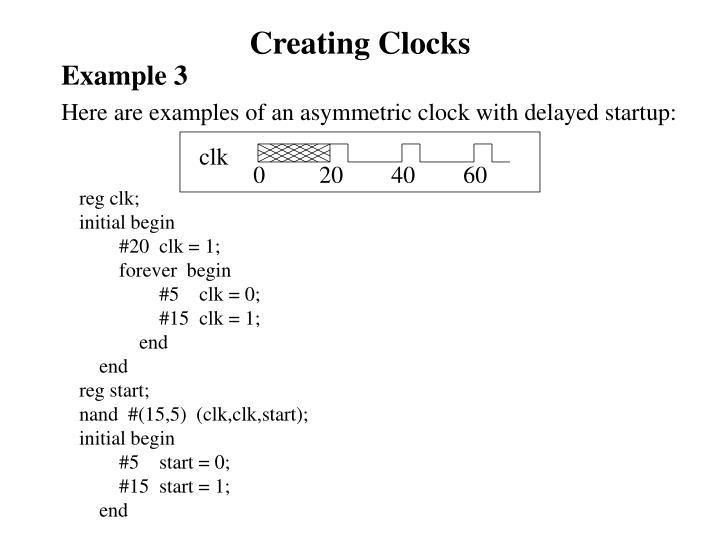 Creating Clocks