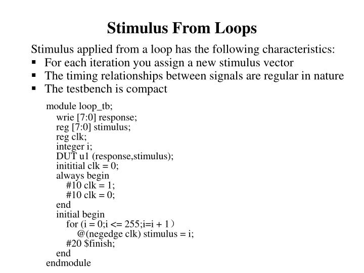 Stimulus From Loops