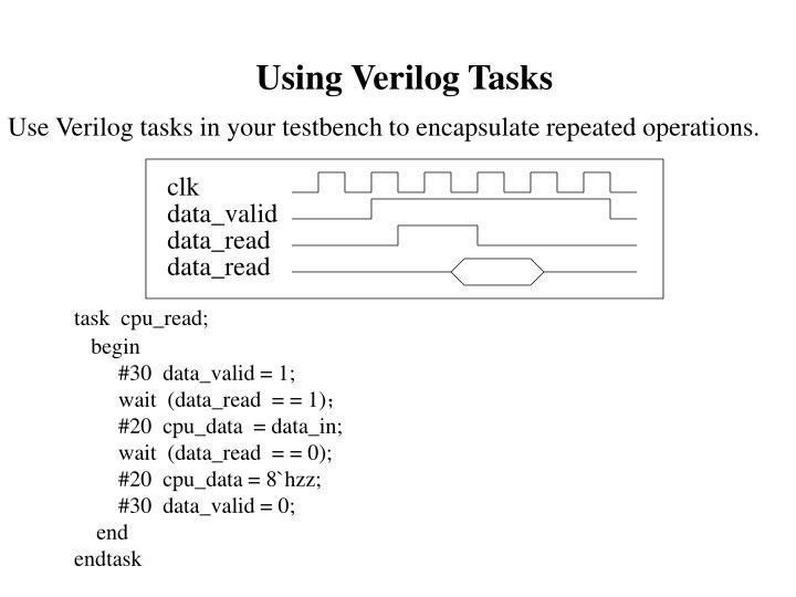 Using Verilog Tasks