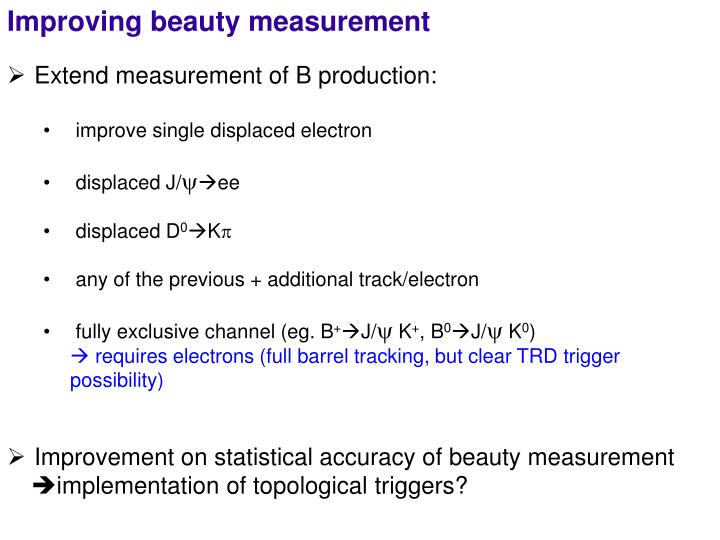 Improving beauty measurement