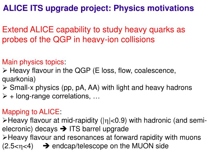 ALICE ITS upgrade project: Physics motivations
