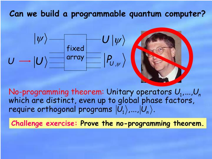Can we build a programmable quantum computer?